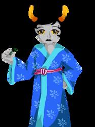 Homestuck - Kanaya's Blue Dress by CorrectorAi