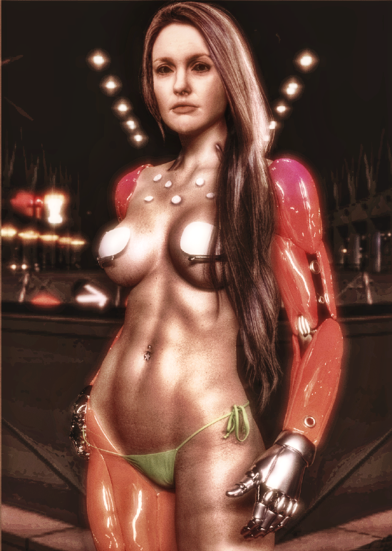 Hot Chick North ( Edited/W Render Effect ) by CyberBrian360