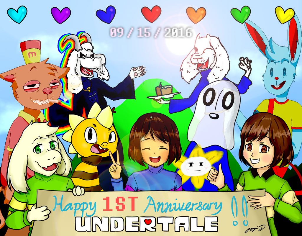 Undertale Happy 1st Anniversary By Mcmania332 On Deviantart