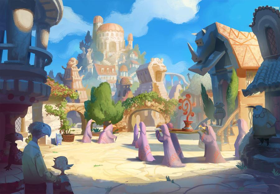 Ancient Ravenskye City by bearmantooth