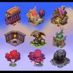 Buildings for Ravenskye City