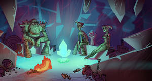 TeknoVikings in the Crystal Cave by bearmantooth