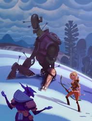 Snowbot! by bearmantooth