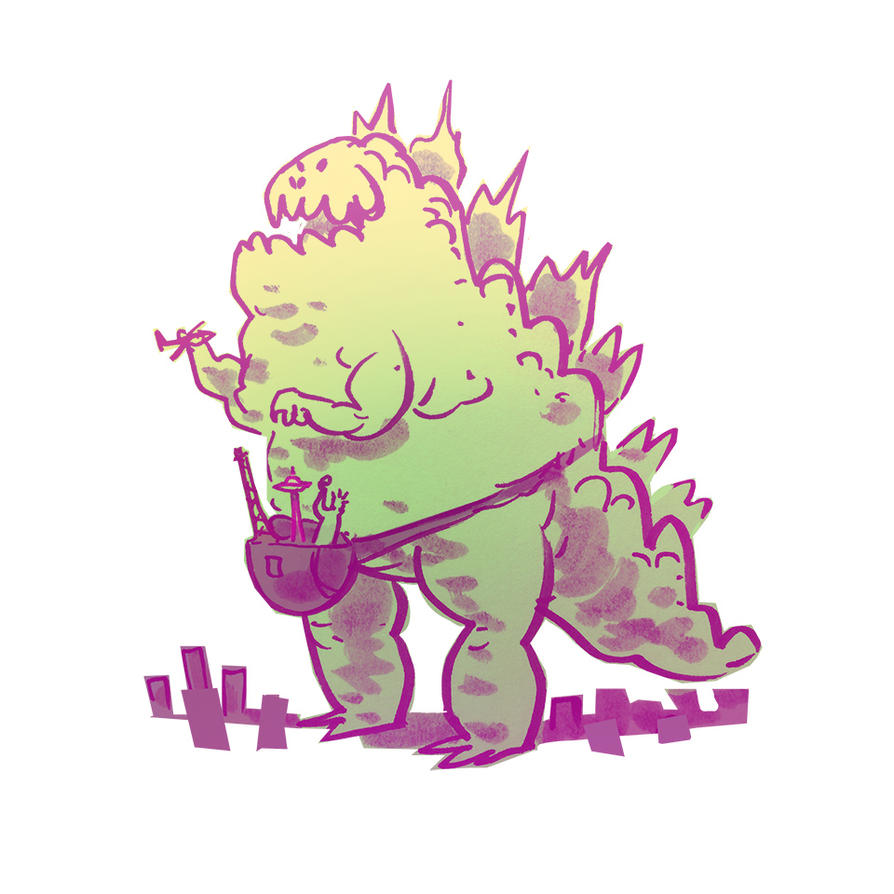 Fannypack Godzilla by bearmantooth
