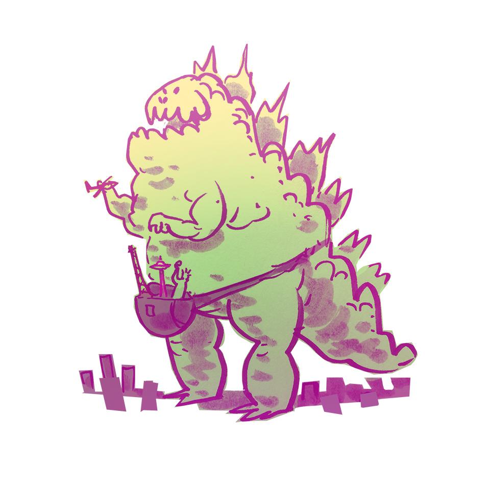 Fannypack Godzilla by bear65