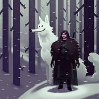 Jon Snow by bearmantooth