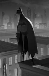 Batman- Black n' White by bearmantooth