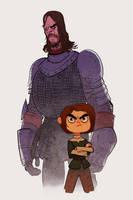 Arya and the Hound by bearmantooth
