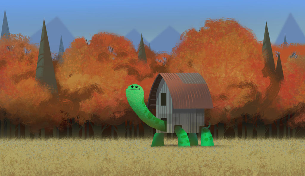 Barn Turtle by bearmantooth