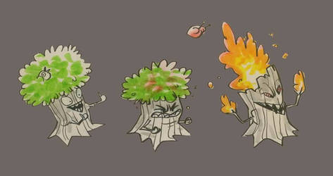 PvZ Tree dude concept by bearmantooth