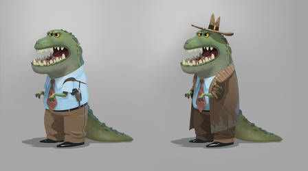Dino Detective by bearmantooth