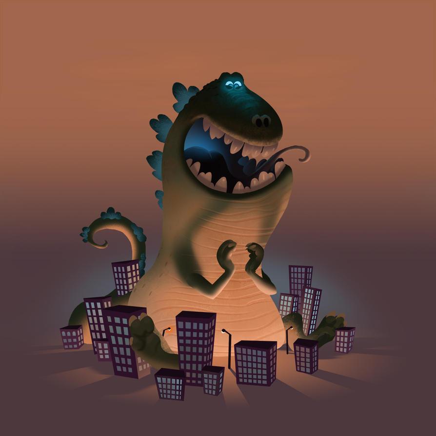 Happy Kaiju by bearmantooth