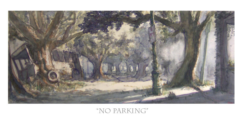 No Parking by bearmantooth