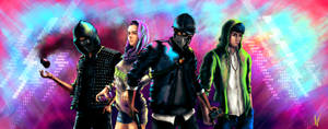 Watch Dogs 2 fanart - The DedSec Squad (Updated!) by ngenoART