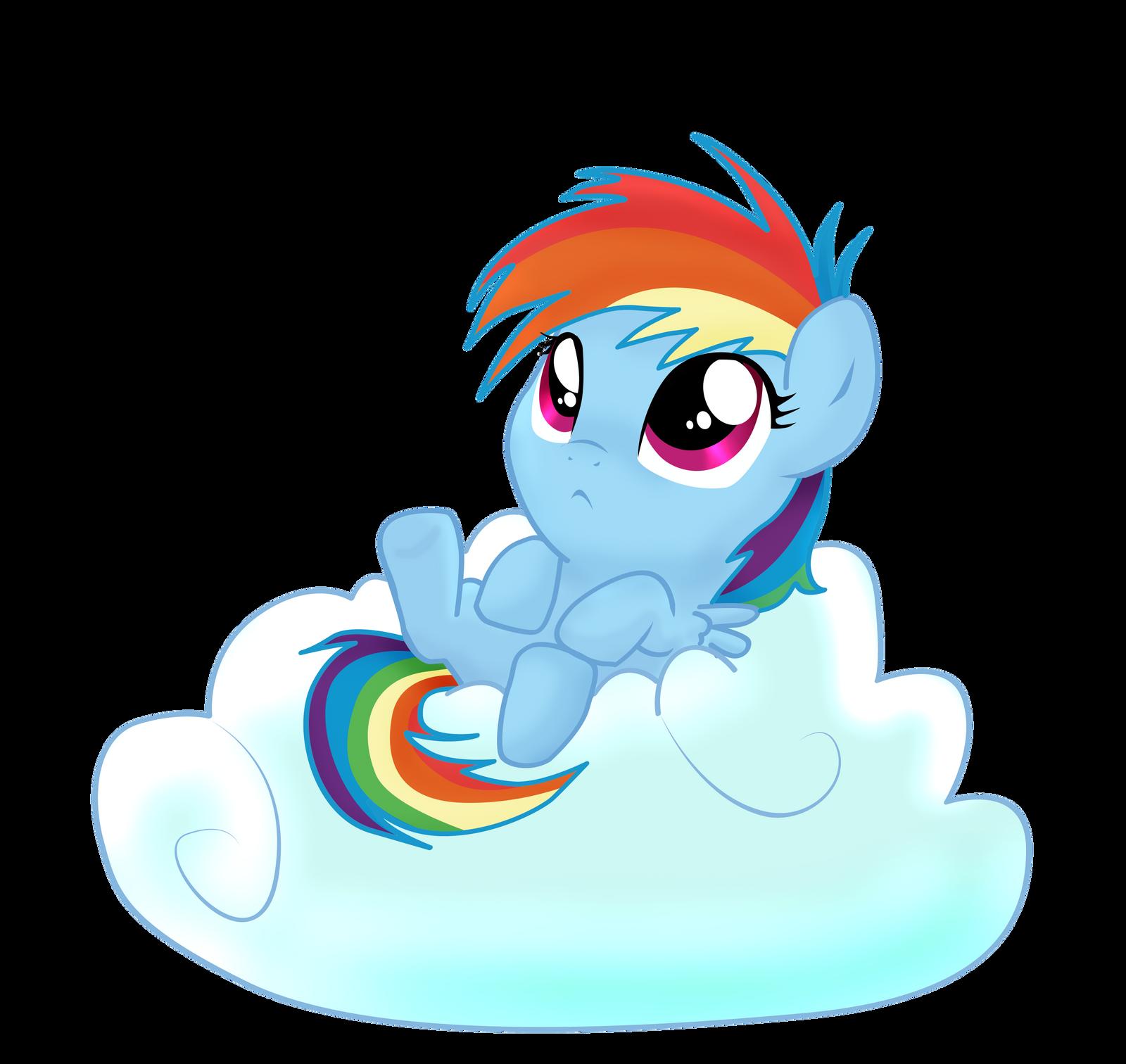 Filly Rainbow Dash by pridark on DeviantArt