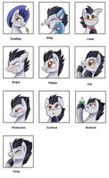 Emotions meme: Wing by pridark
