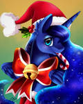 Christmas Luna Portrait