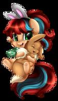 Comm: Eevee hug
