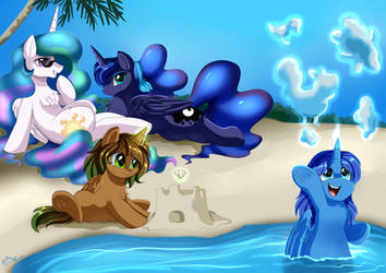 Comm: Royal Beach Time by pridark