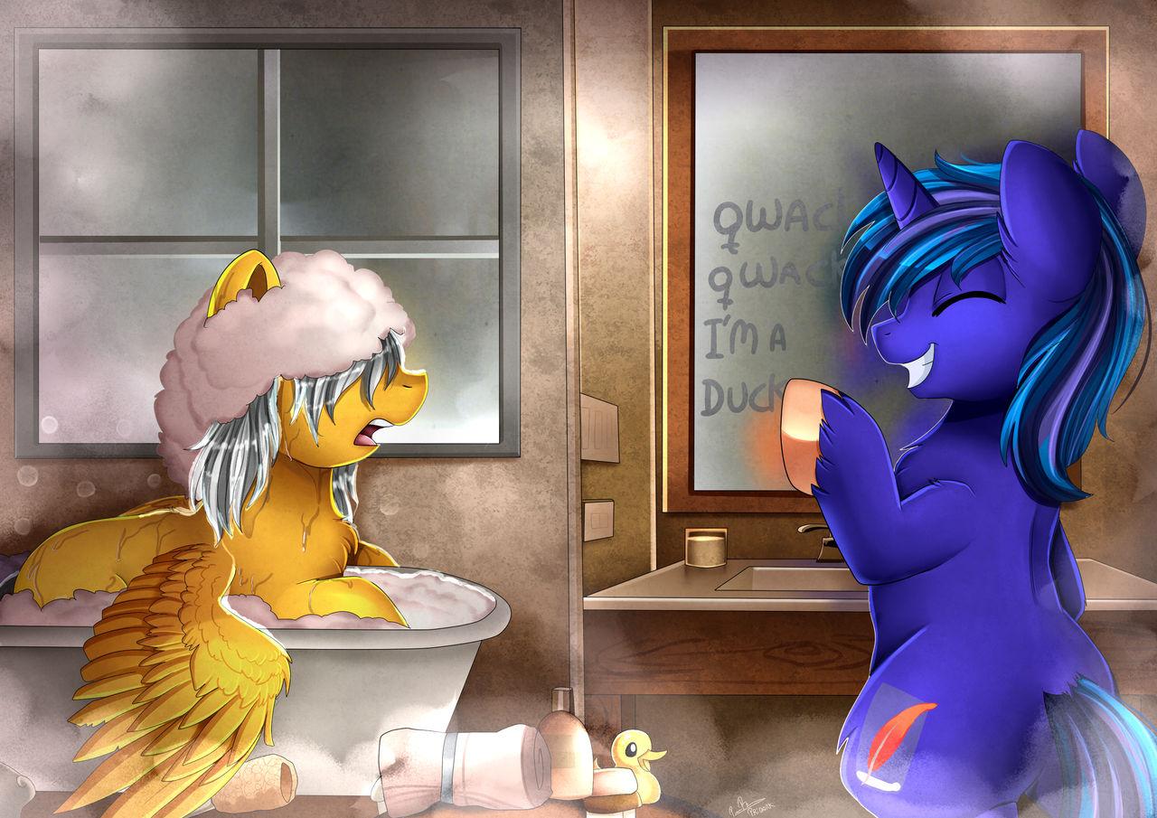 Comm: Bathroom Joke by pridark