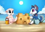 Comm:  Making a sand castle