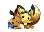 Comm: Pichu and Eevee