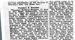 Obituary For Theodore Burdette Simpson