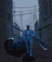 Armsmaster on patrol by liujuin