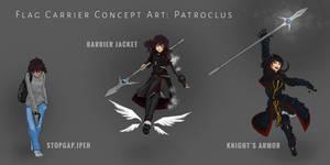 Patroclus Concept Art (Dark Background)