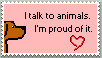 Talking to Animals Stamp by Alpha-Wolff