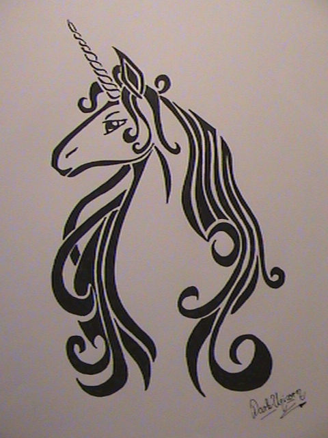 Last Unicorn tattoo by Dark-Unicor