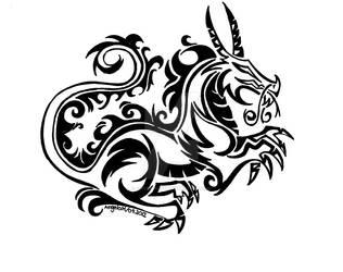 Dragon Tribal by Dark-Unicor