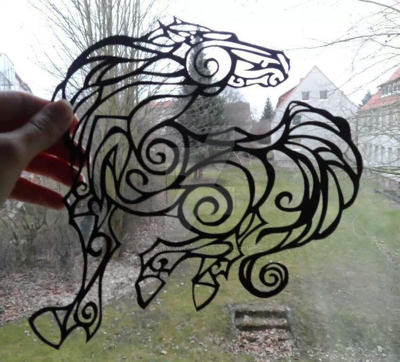 horse paper-cut by Dark-Unicor