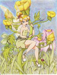 Tinkerbell  *In the garden* by DANNPAINAPPURU