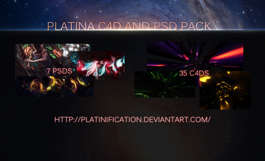 Platina C4d and Psd pack by Platinification