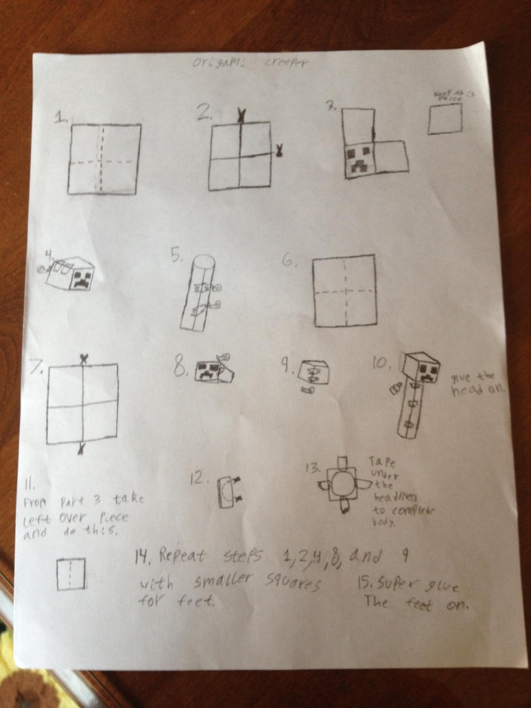 origami creeper directions by was8ding on deviantart