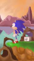 Sonic the hedgehog by Nazota