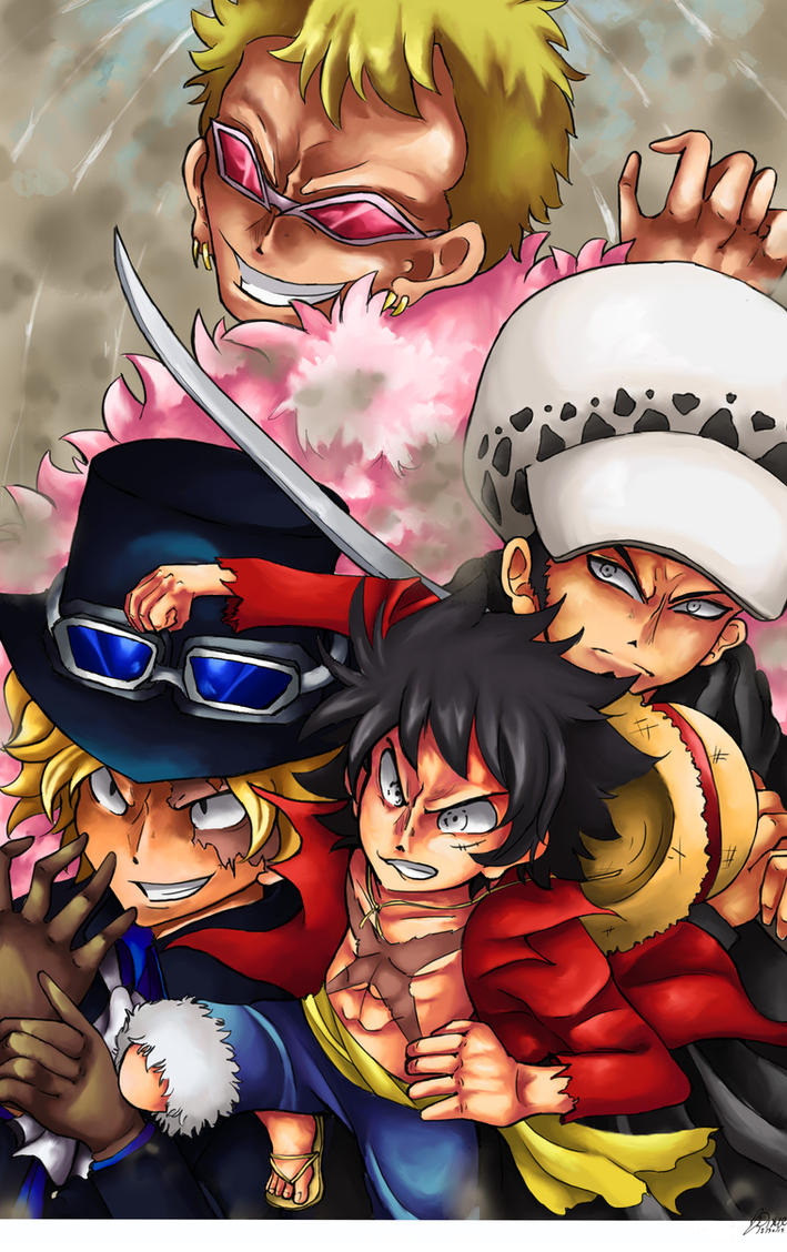 One Piece: Dressrosa Arch by TheLittleDixie