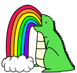 Dinosaur Puking Rainbows_ by I-unno