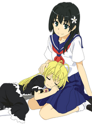 Saten-san and Febri by YourFavoriteSenpai