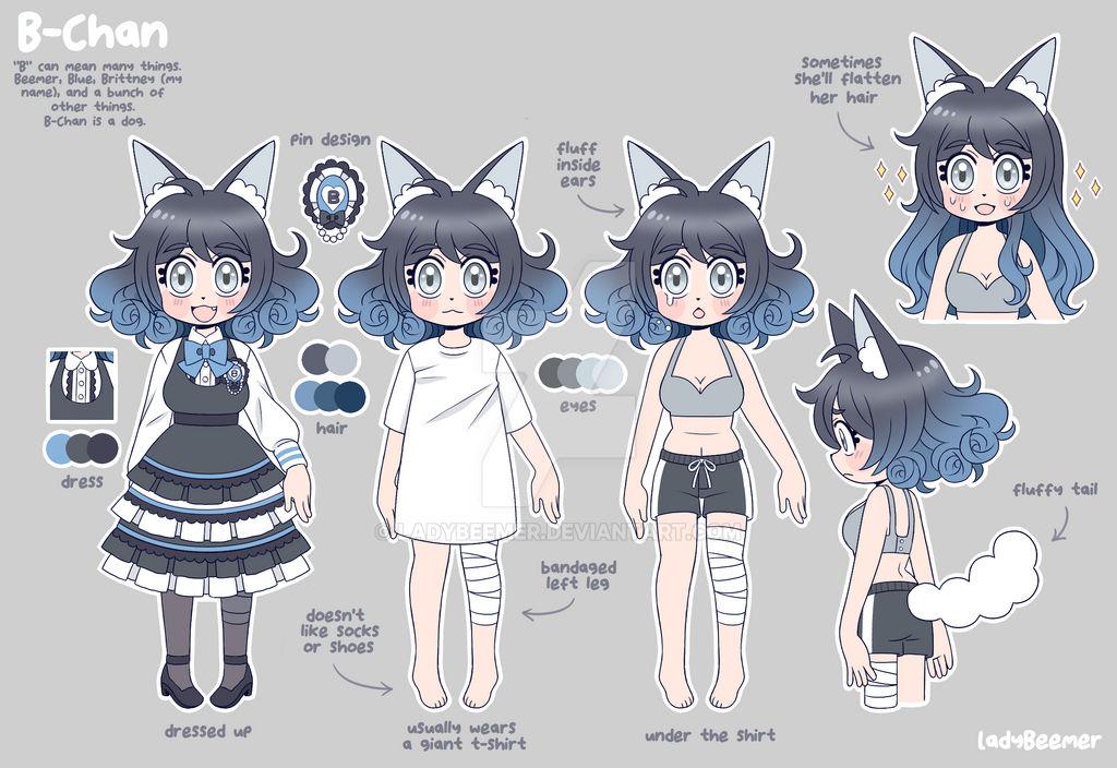 Persona/OC - B-Chan Reference Sheet