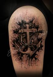 anchors tattoo by ErdoganCavdar
