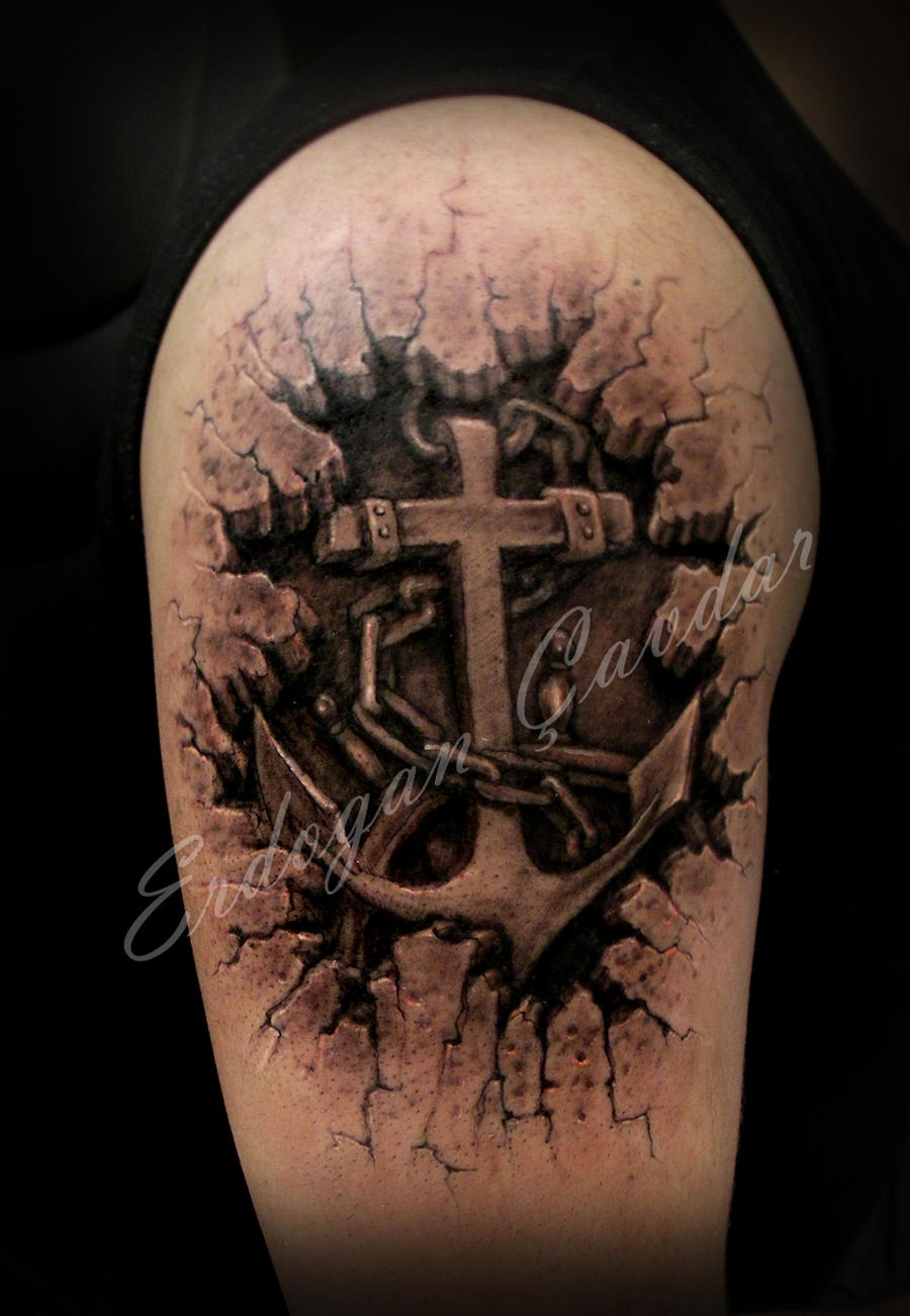 anchors tattoo by ErdoganCavdar