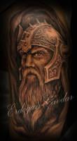 viking warrior tattoo by ErdoganCavdar