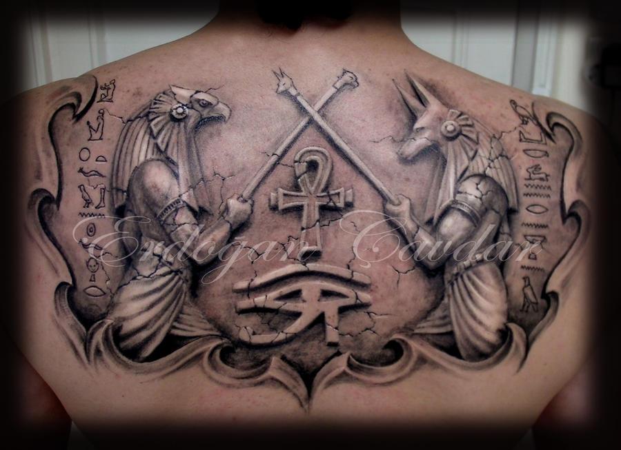 anubis - horus tattoo by ErdoganCavdar