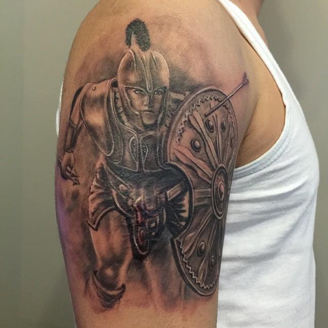 Akhilleus tattoo by ErdoganCavdar