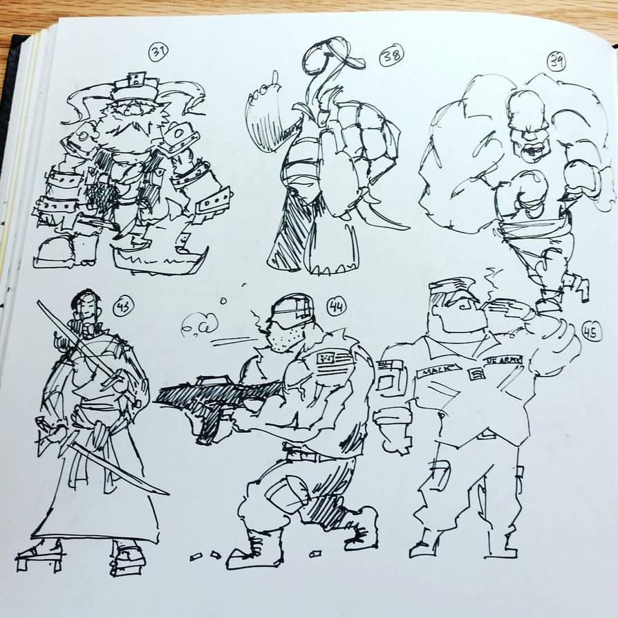 Character Design Thumbnails : Character design thumbnails inktober oct by ulupopoart