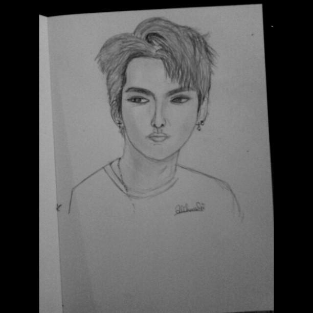 [Sketch] Kris Exo Growl Era by alikkandhi on DeviantArtKris Growl Era