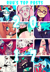 2017 Summary of art by Galactic-Rush