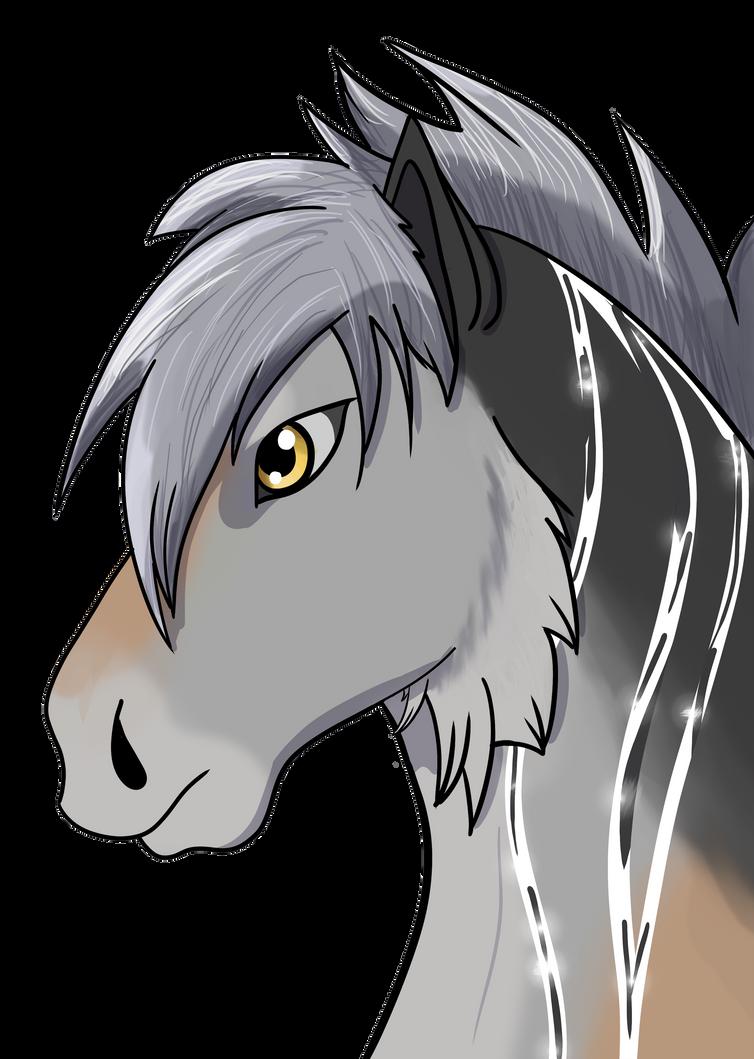 New Character headshot by IntelligentWolf